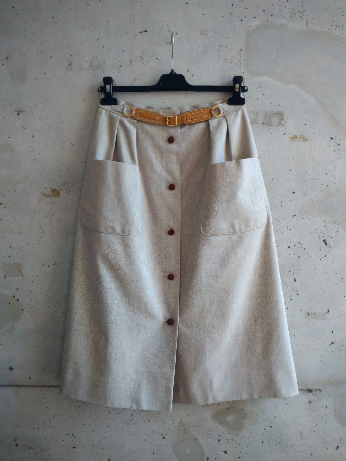 Hermes cotton skirt