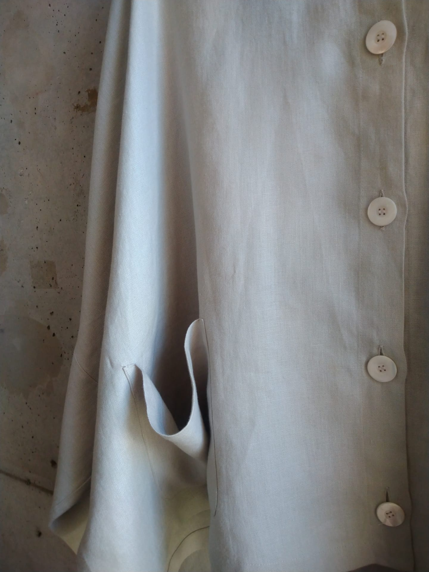 Linen bat sleeve jacket