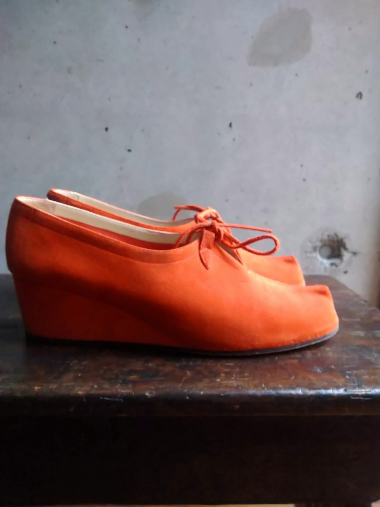Salvatore Ferragamo orange shoes