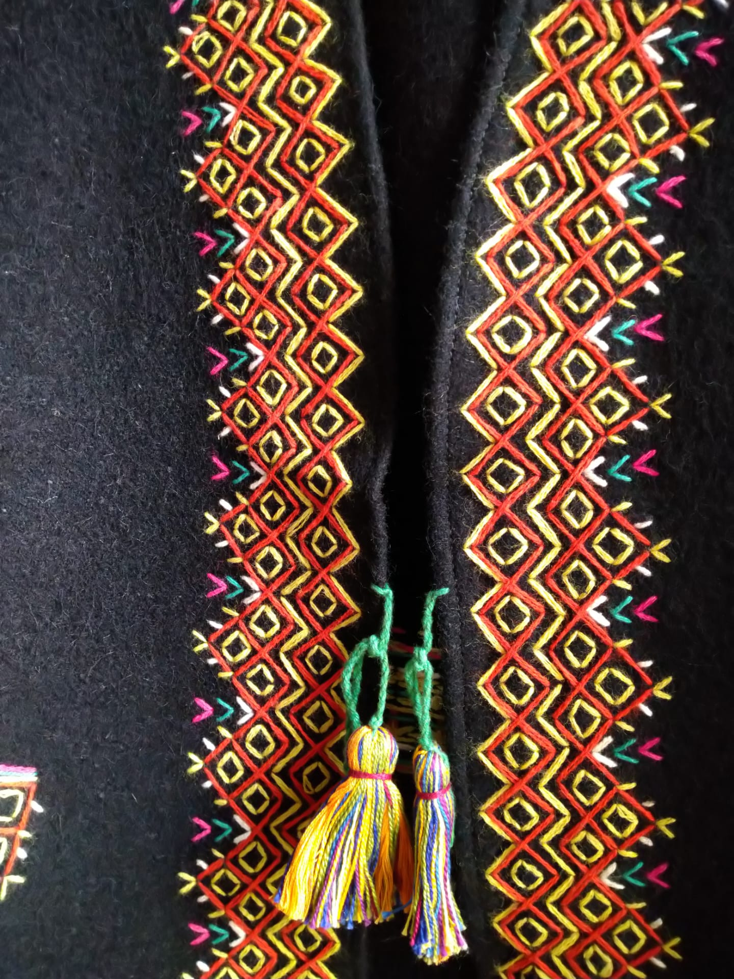 Old embroidered wool vest