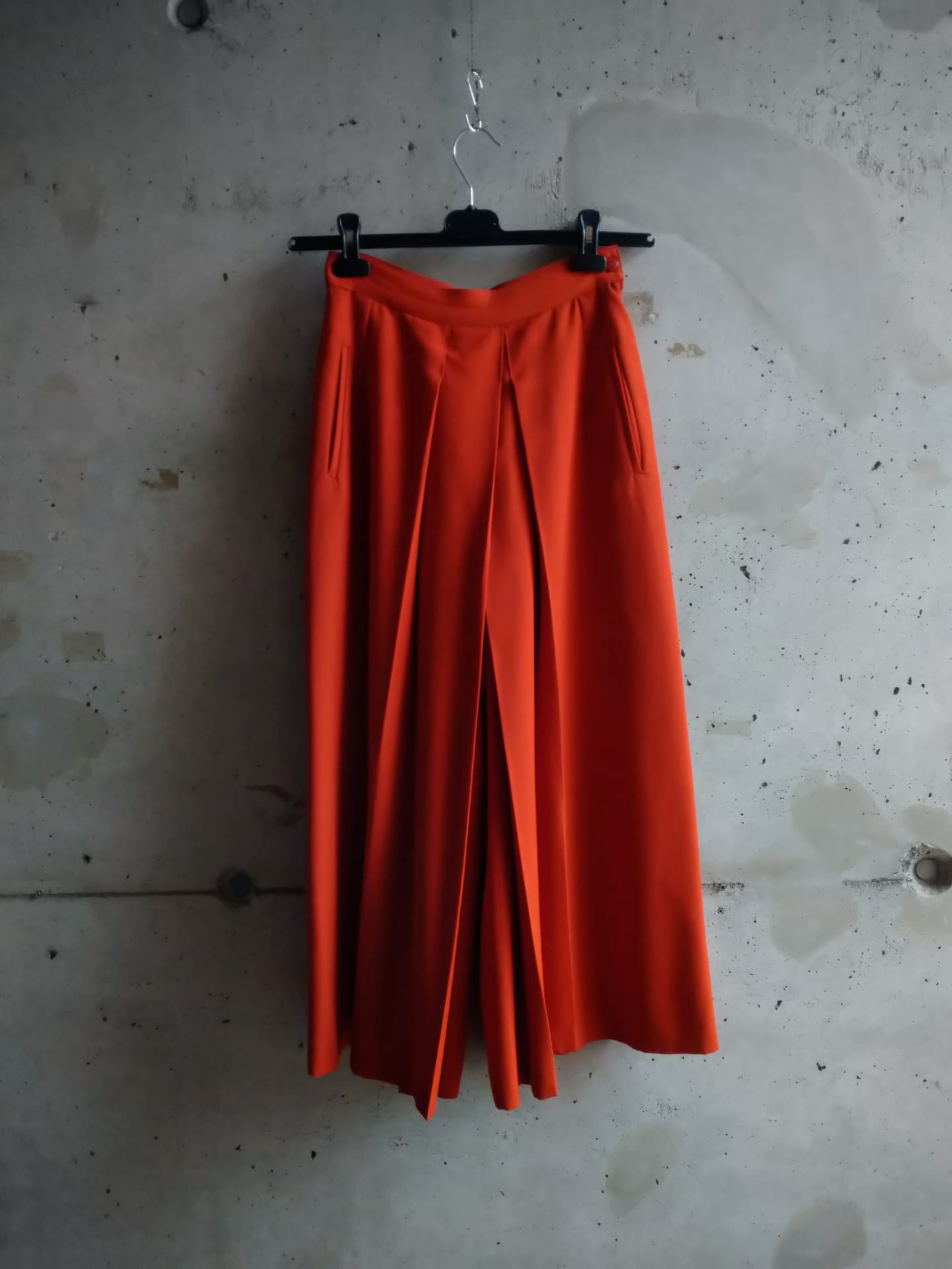 Kenzo orange divided skirt