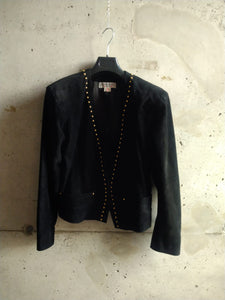 YSL studded bovine leather jacket