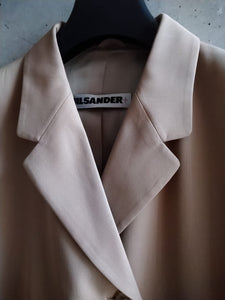 Jil Sander jacket with an asymmetrical closure
