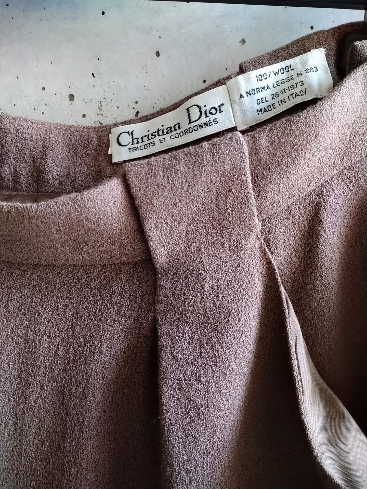 Christian Dior pink grey skirt