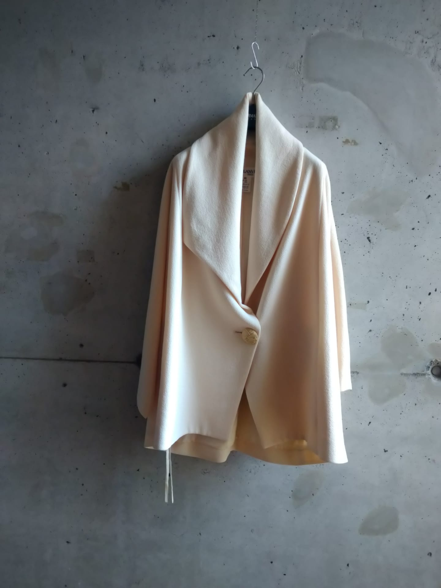 Lanvin cream coat
