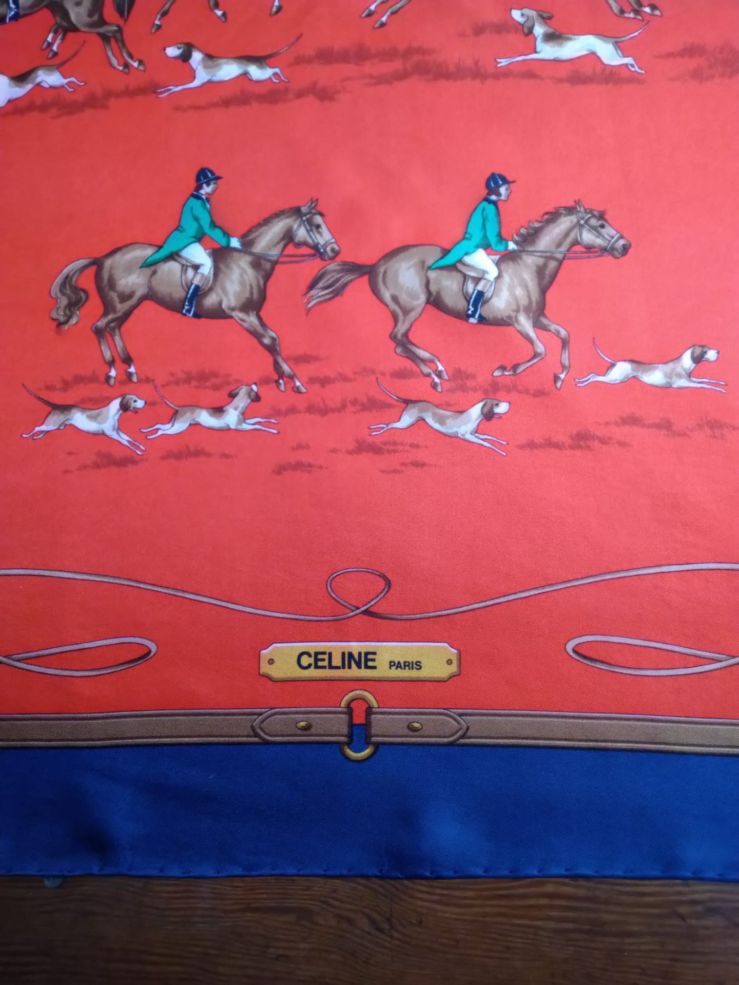 Celine equestrian scarf