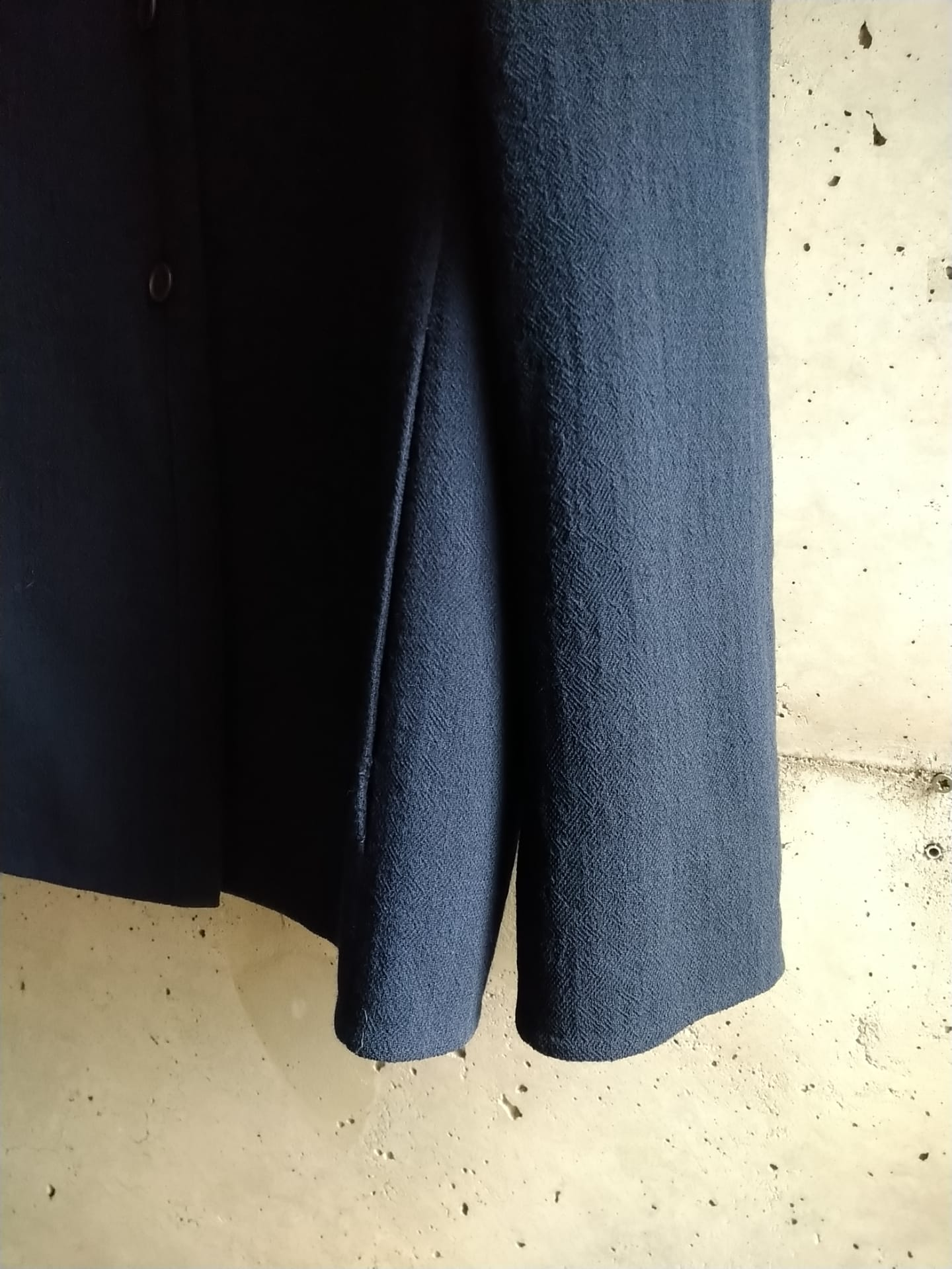 Navy blue wool jacket