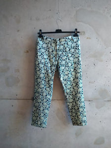 Dries van Noten brocard lurex pants