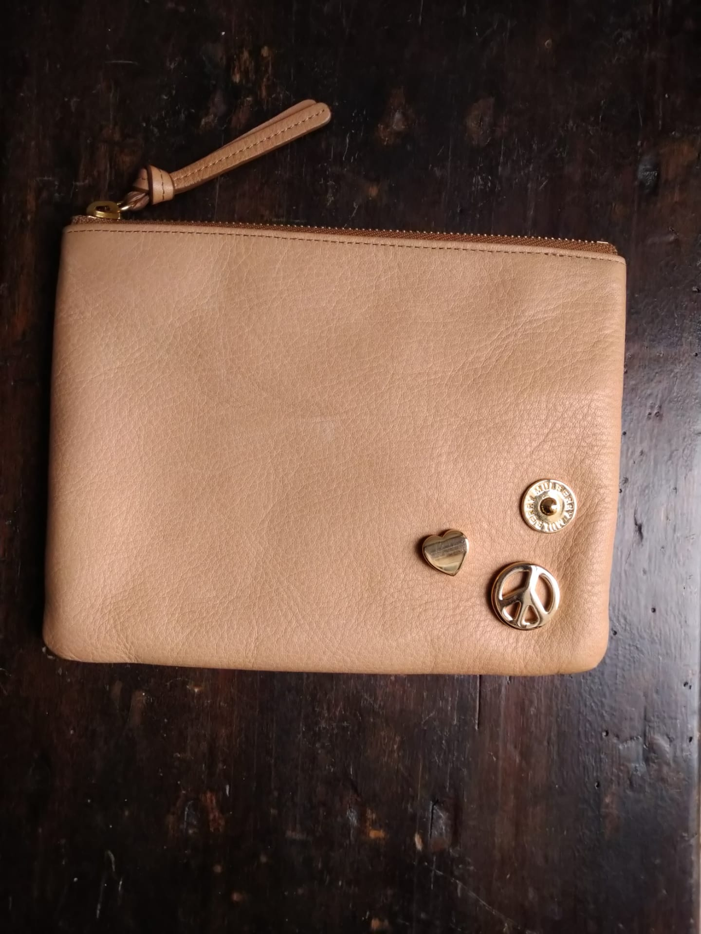 Mulberry natural beige pouch