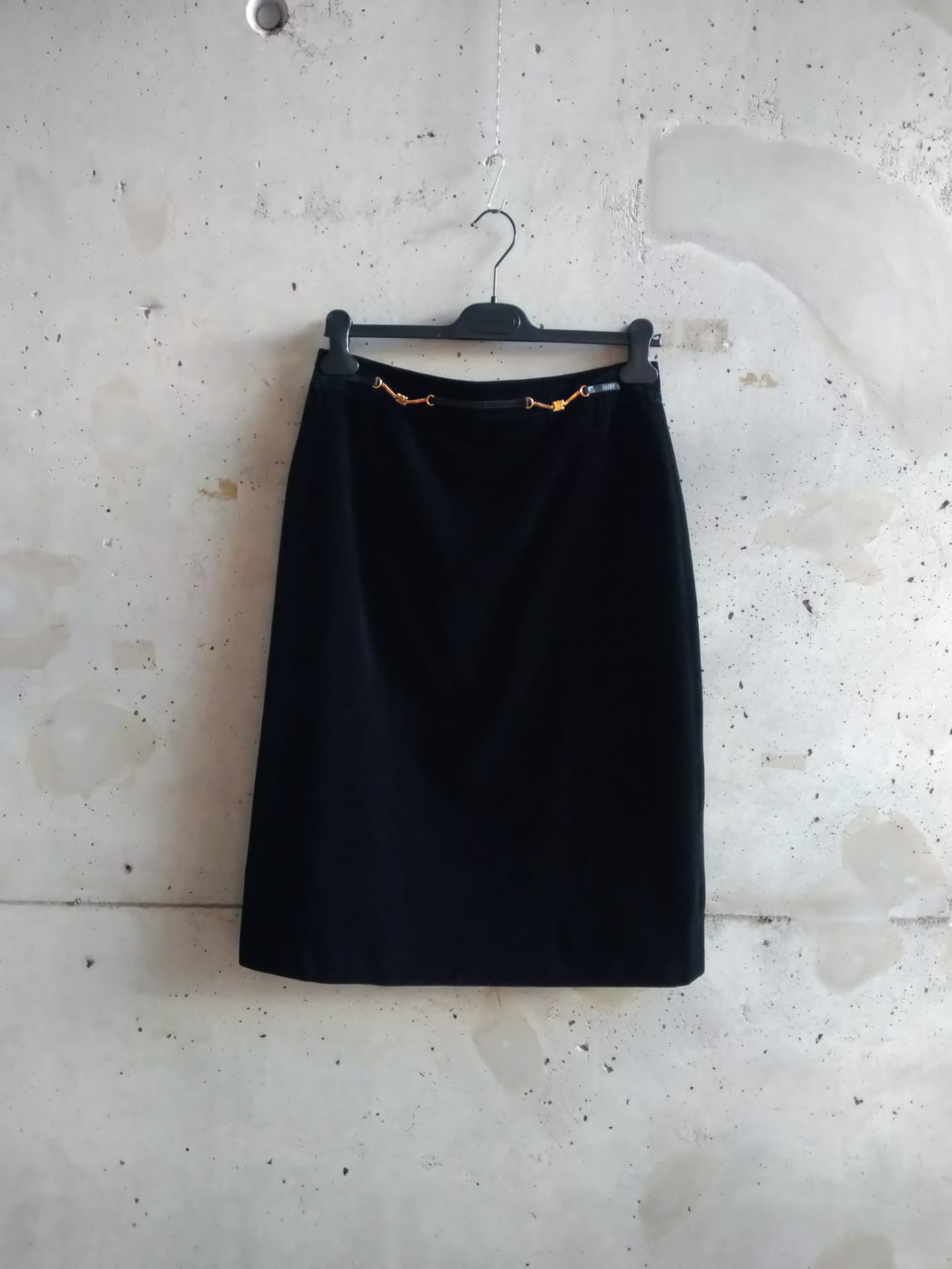 Celine black velvet skirt