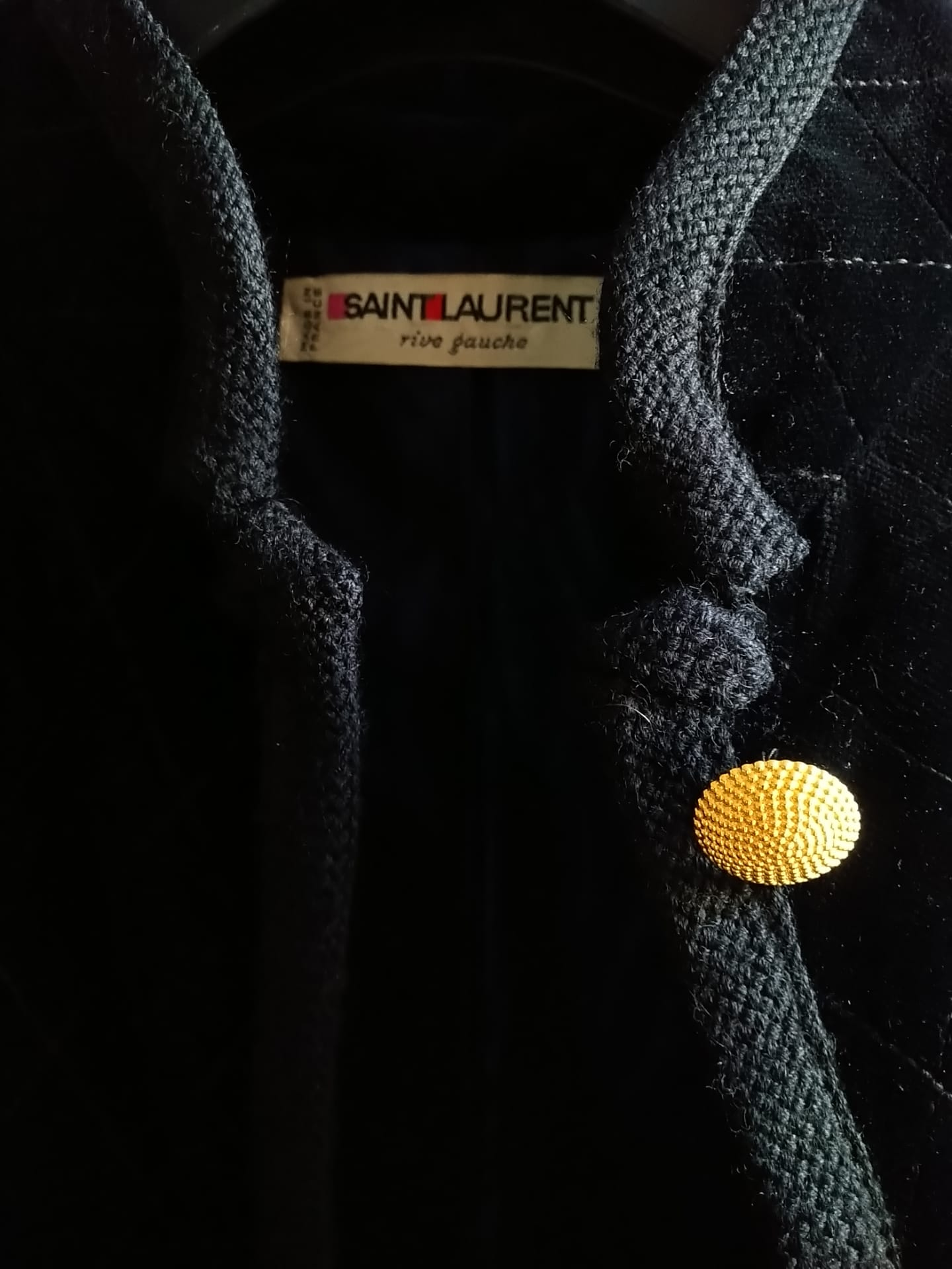 Yves Saint Laurent black velvet jacket