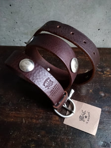 Il bisonte studded chocolate belt