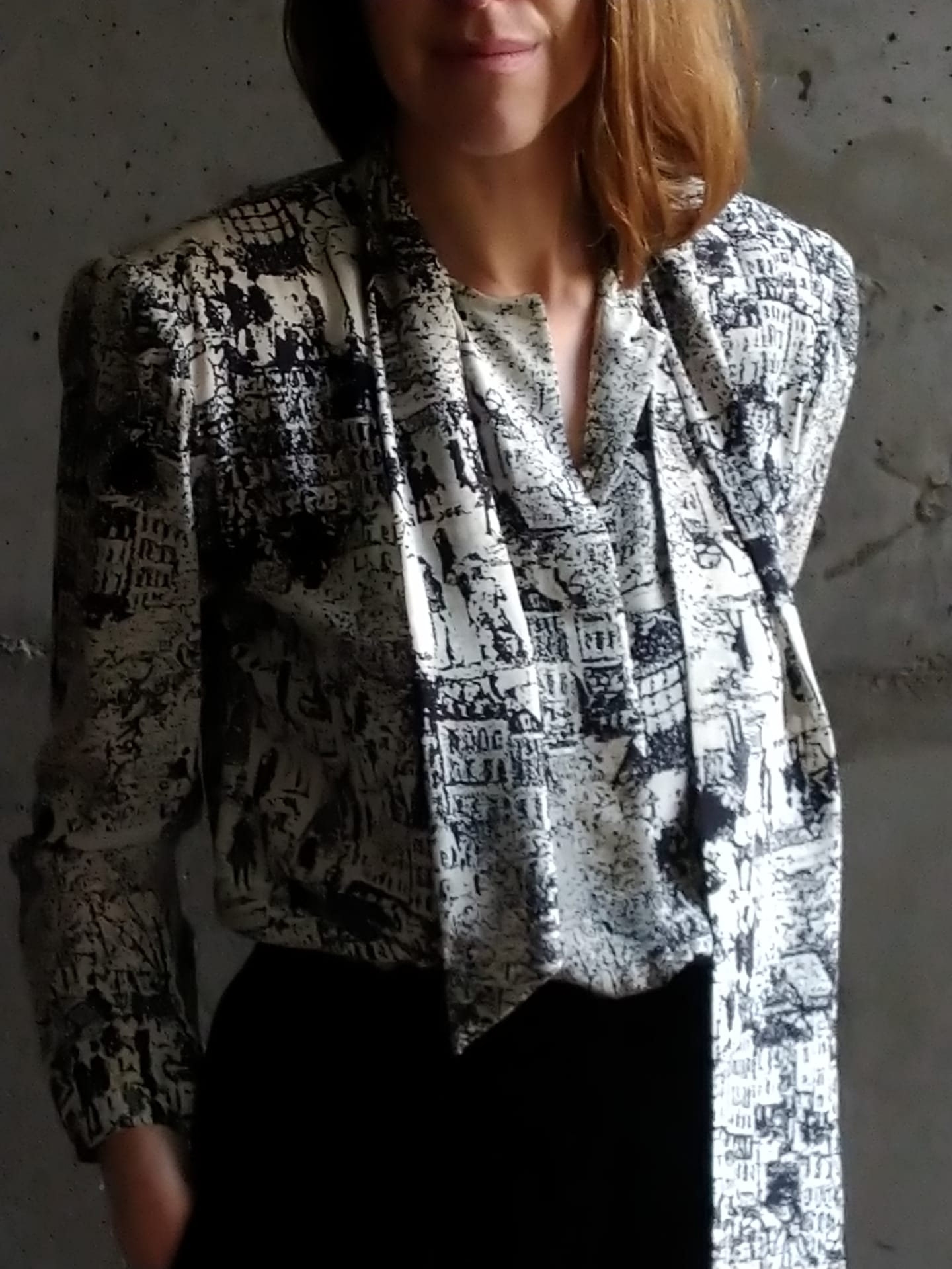 Jean Louis Sherrer silk blouse