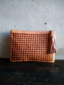 Dragon diffusion small pouch / Natural beige and brown