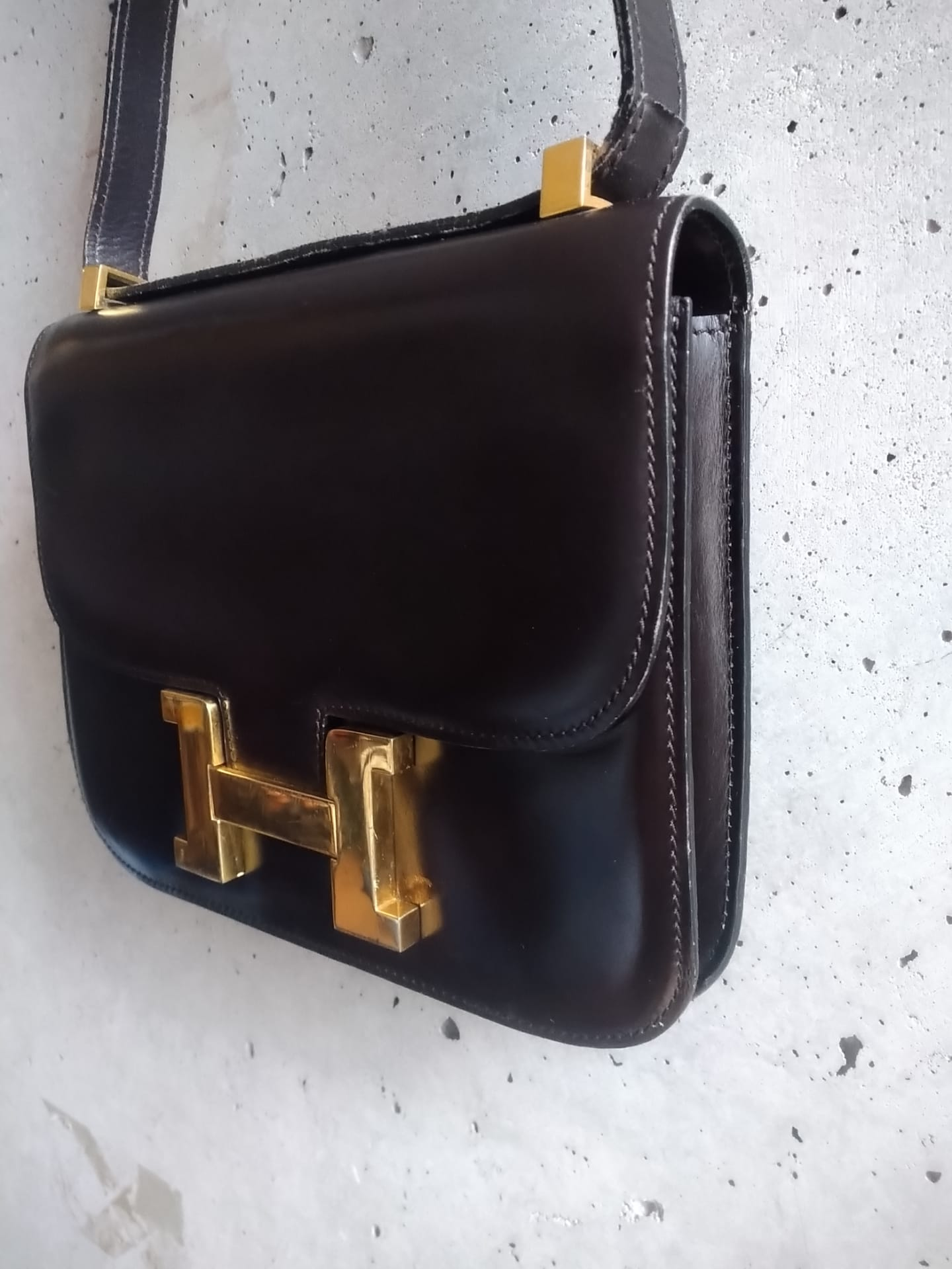 Chocolate vintage handbag