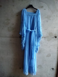 Ann Marks silk blue dress