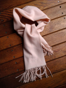 Fendi light pink cashmere scarf