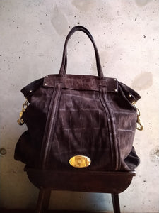 Mulberry chocolate suede handbag