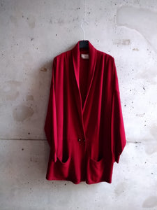 Gianni Versace oversized bordeaux cardigan