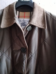 Burberry's olive quilted jacket