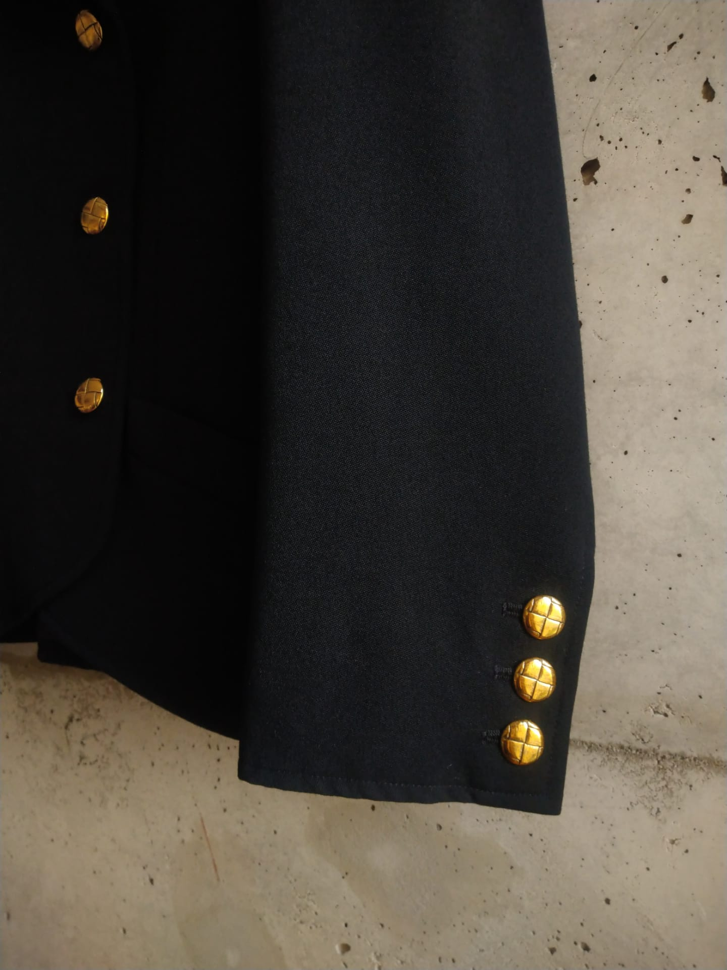Yves Saint Laurent double breasted jacket with golden buttons