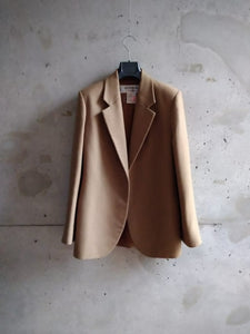 Yves Saint Laurent kaki wool blazer