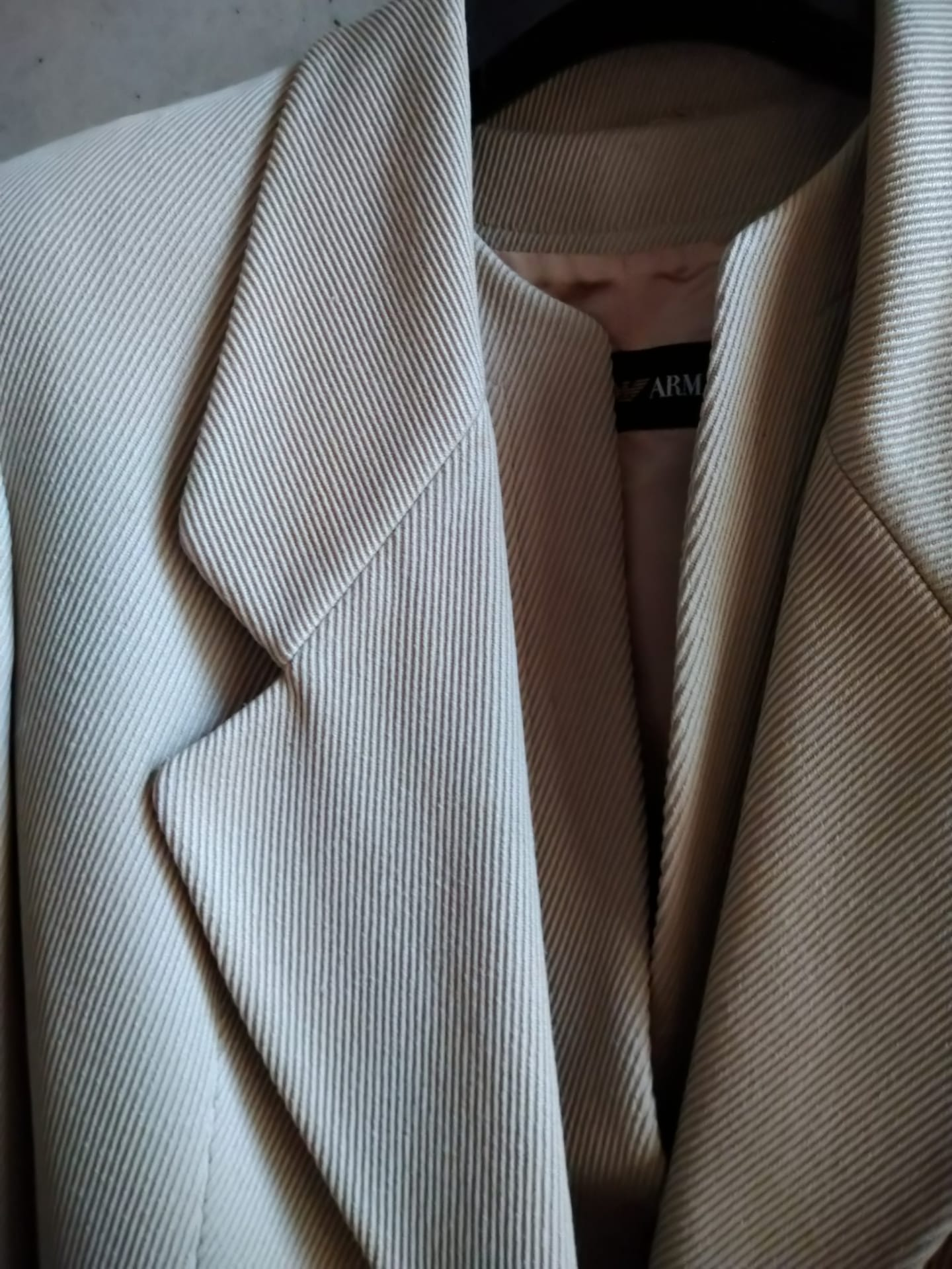 Emporio Armani light grey double blazer
