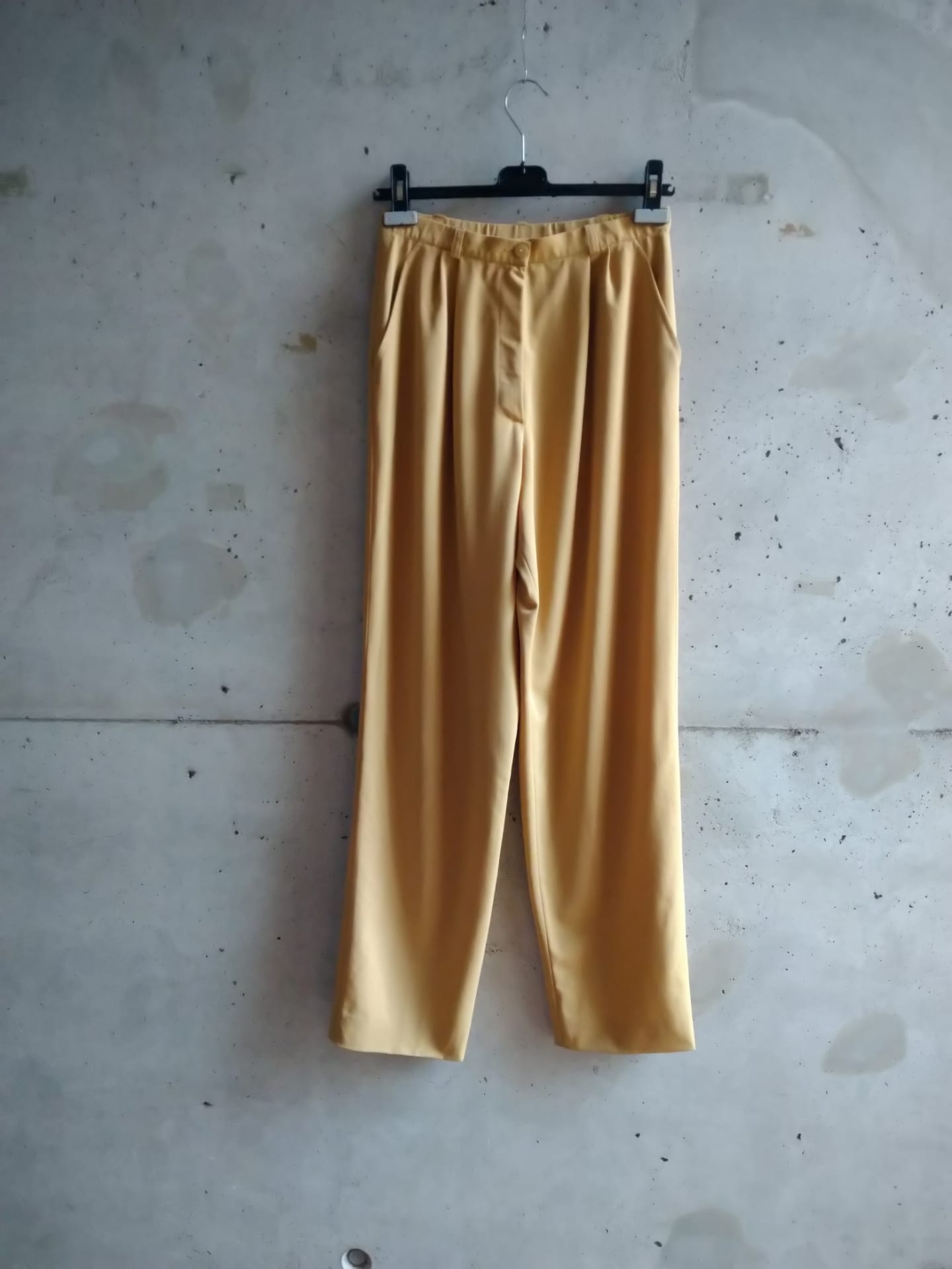 Yves Saint Laurent sand trousers