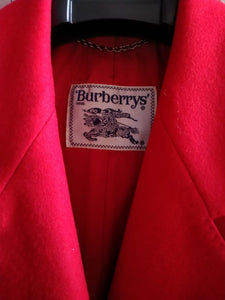 Burberry red wool blazer
