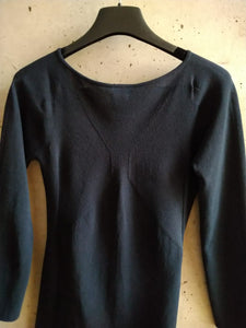 Chanel dark blue knit sweater