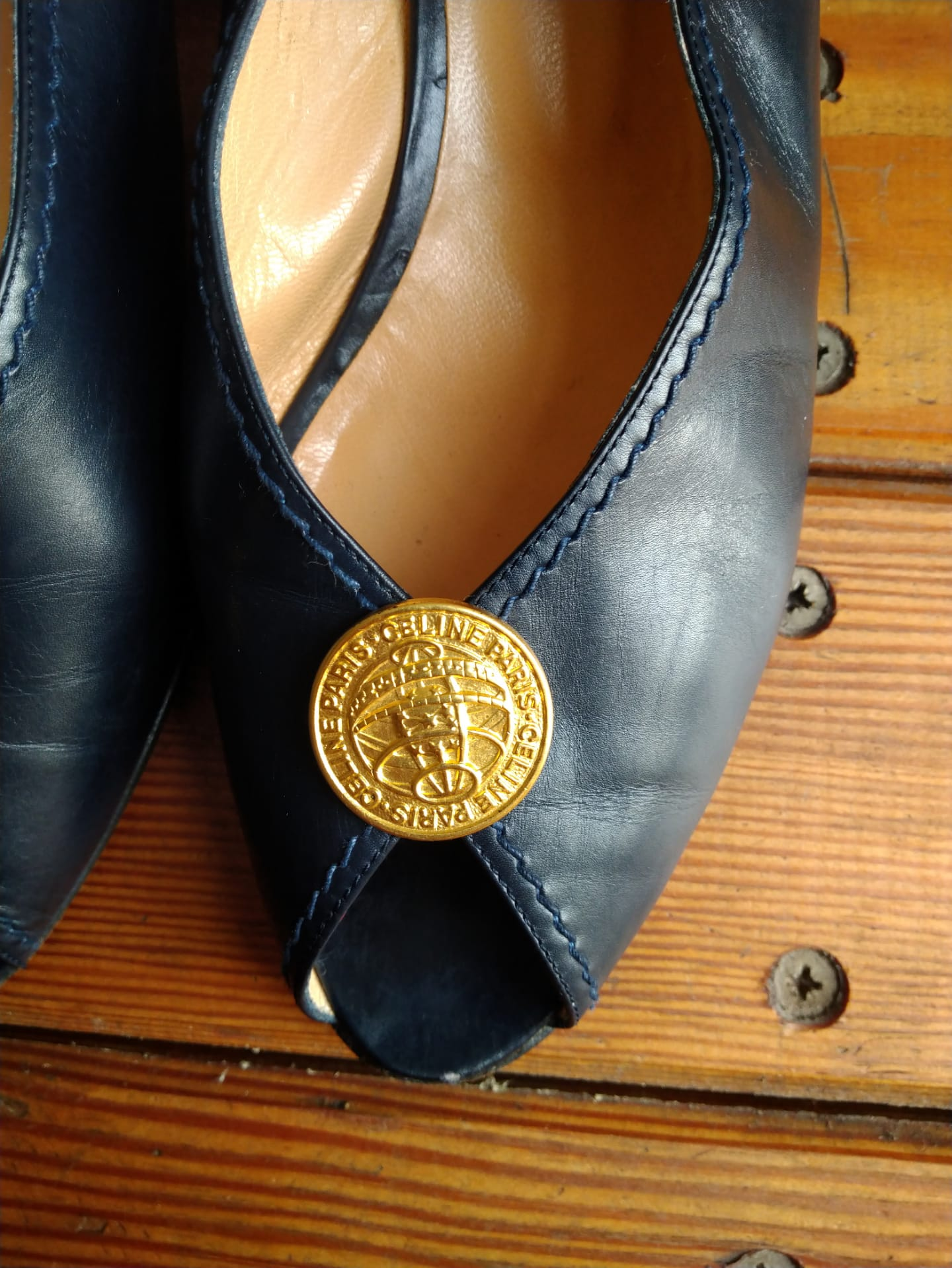 Celine sandals with a medal