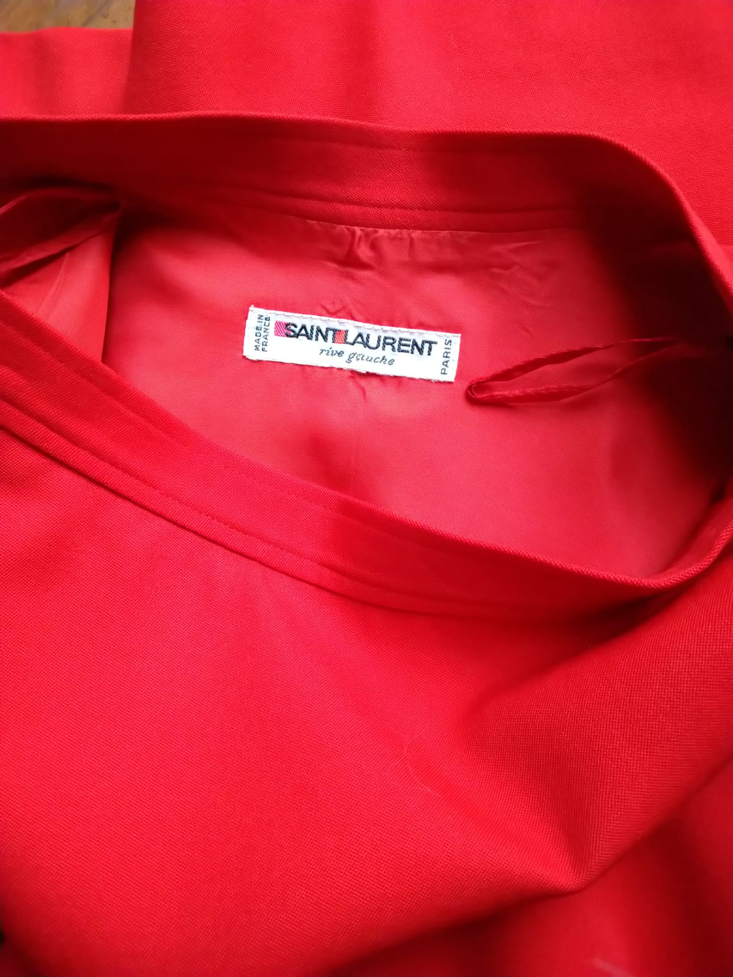 Yves Saint Laurent red flared skirt