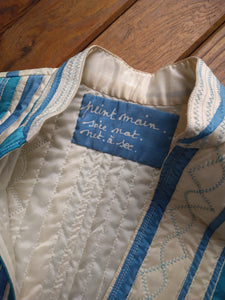 Hand painted quilted gilet
