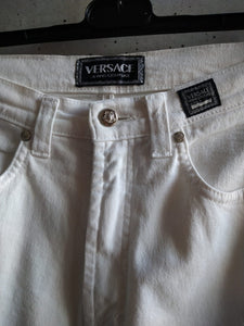 Versace jeans couture white denim