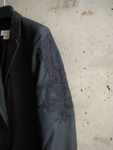 Dries van Noten embroidered black jacket