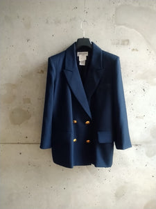 Yves Saint Laurent navy blue blazer