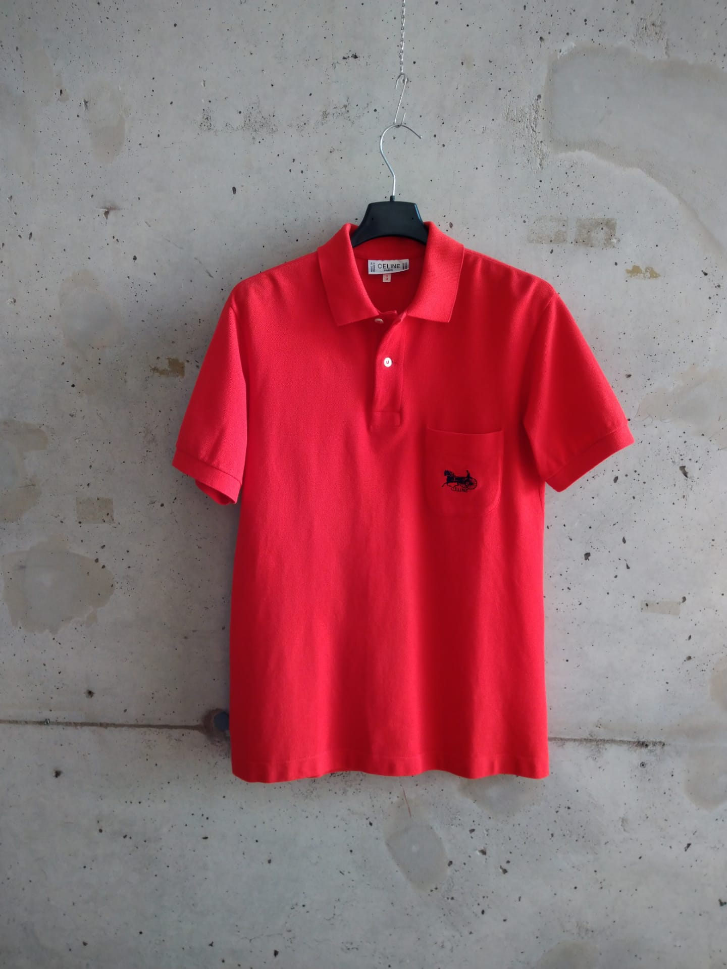 Céline red polo shirt