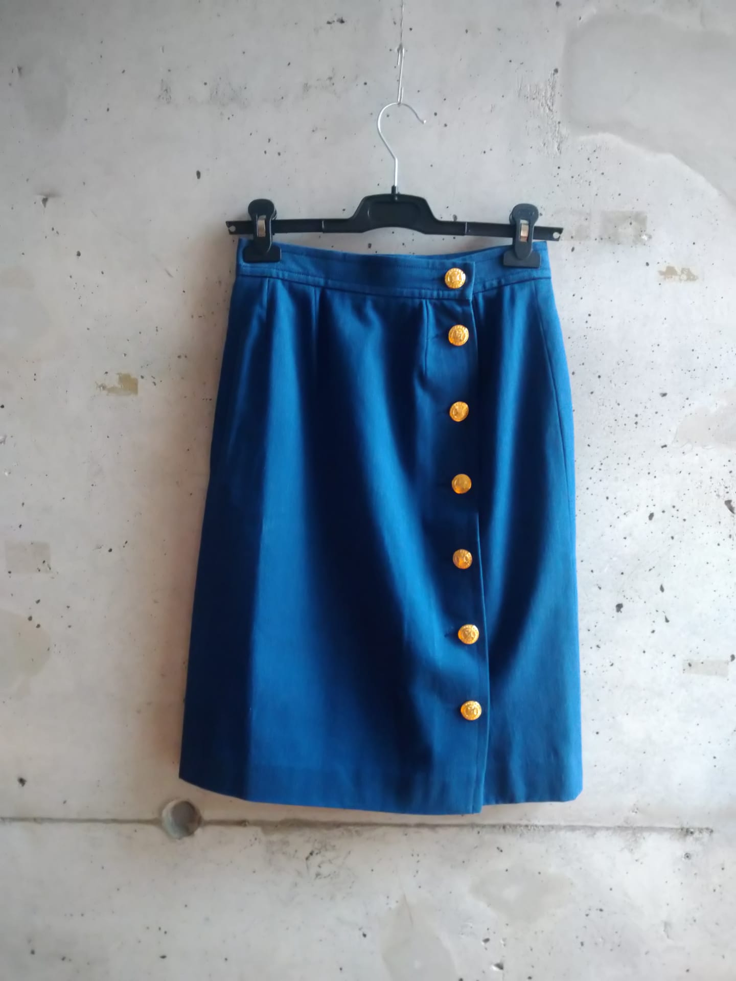 Celine pencil skirt with golden buttons