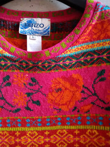 Kenzo jeans jacquard sweater