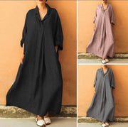 Casual plus size long sleeve dress