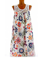 Round Neck Floral Casual Dress