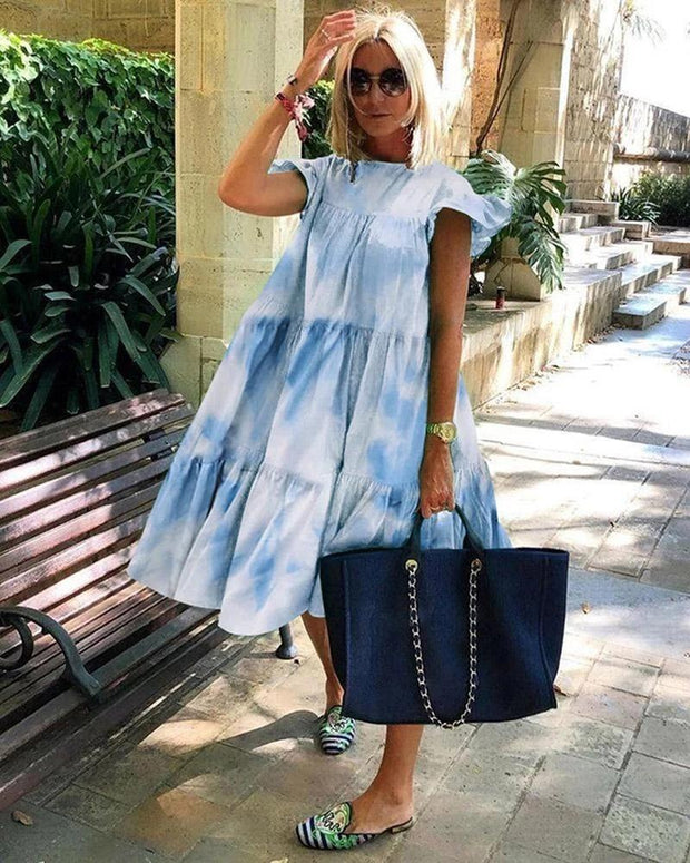 Fashion Tie-dye Midi Dress