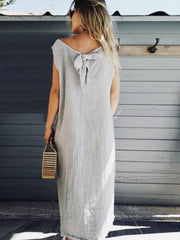 Summer Woman Casual Solid Fall Shift Dress