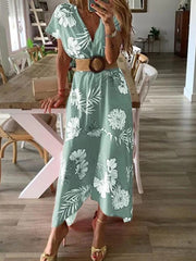 Summer Large Size Print Dress