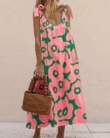 Vacation Floral Printed Maxi Dresses