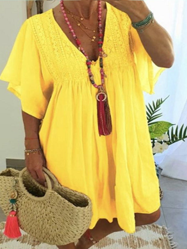 Summer V-Neck Loose Dress