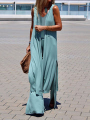 Simple Casual Solid Color Loose Wild Three-piece Suit