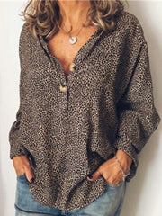 V Neck Long Sleeve Blend Casual Tops