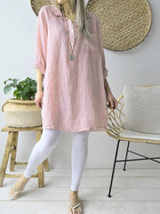 Long Sleeve Solid Color / Long Blouses