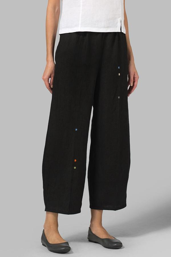 Embroidery Casual Pants
